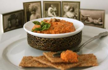 Соус из подсолнечных семечек и болгарского перца