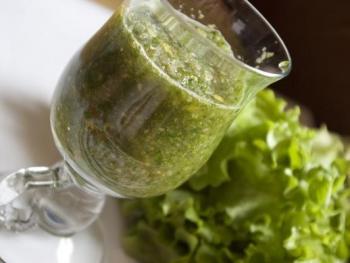 Яблочный зеленый напиток